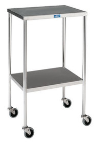 TABLE INSTRUMENT S/S 16 x 20 x 34in 3in CASTERS w/SHELF 145-SG-82-SS