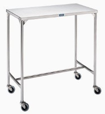 TABLE INSTRUMENT S/S 20 x 36 x 34in 3in CASTERS w/o SHELF 145-SG-89-SS