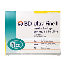 Buy Online SYRINGE INSULIN 1/2 CC 30 G X 5/16 IN Canada