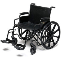 WHEELCHAIR TRAVELER HD 24 x 18in w/ DET FULL ARMS & S/AWAY FOOTREST 139-3G010540