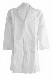 70442 COAT LAB White UNISEX Medium BUTTON STYLE w/3 POCKETS