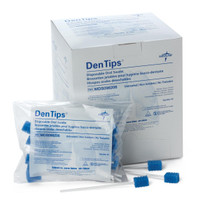 Medline MDS096202 DenTips Oral Swabsticks,Untreated Blue, Individually Wrapped CS 500/CS