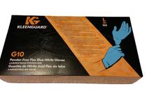Kimberly-Clark Professional 38521 KleenGuard™ G10 Powder-Free Nitrile Gloves, Large, Blue, Box of 100, Box