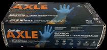 PIP 63-532PF Ambi-dex Axle Disposable Blue Nitrile Gloves, Medium, Box of 100 Gloves, Box