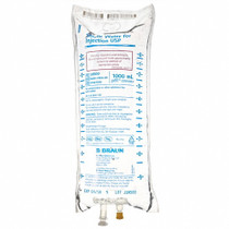 WATER STERILE for Injection USP 1000ml - Case of 12 Bags (L8500)