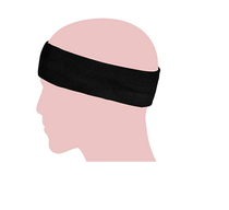 Medium Grey Headband with black band (15047)