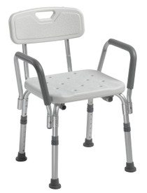 Shower Chair with Back and Removable Padded Arms (12445KD-1) (15052)