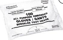 ALMEDIC 40-5000 GLOVE UTILITY POLYETHYLENE POWDER- FREE N/S UNISIZE BG/100 (40-5000)