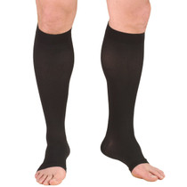 "TRUFORM 0865SBL Compression 20-30 mmHg Below-knee, Open-toe, black, short [15""]"