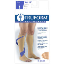 TRUFORM 0865WH Compression 20-30 mmHg Below-knee, Open-toe, white S-M-L-XL (0865WH)