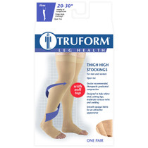 TRUFORM 0866BG Compression 20-30 mmHg Thigh-high, Open-toe, beige (0866BG)