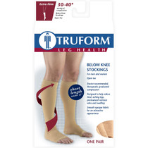 "TRUFORM 0845S Compression 30-40mmHg Below-knee, Open-toe, beige, short [15""] S-M-L-XL (0845S)"