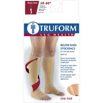 TRUFORM 0845BL Compression 30-40mmHg Below-knee, Open-toe, black S-M-L-XL (0845BL)