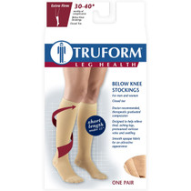 """TRUFORM 8845S Compression 30-40mmHg Below-knee, Closed-toe, beige, short [15""""] S-M-L-XL (8845S)"""