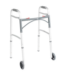 Drive 10210-4ASM Walker Deluxe Adult 2-Button 5 Inch Wheels