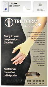 Truform 3312-BG LYMPHEDEMA GAUNTLET Glove 15-20mmHg, beige S-M-L