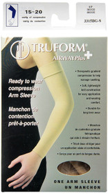 Truform 3315-BG LYMPHEDEMA Compression ARM SLEEVES 15-20mmHg Arm sleeve w/soft top, beige S-M-L (3315-BG)