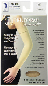 Truform 3316-BG LYMPHEDEMA Compression 15-20mmHg Arm sleeve w/dot top, beige S-M-L (3316-BG)