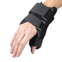 "OTC 2086 6"" Wrist/Thumb Splint - Black (LT or RT) S-M-L-XL (OTC 2086)"