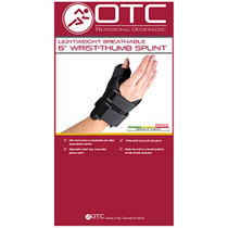 "OTC 2086 6"" Wrist/Thumb Splint - Black (LT or RT) S-M-L-XL"
