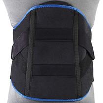 "OTC 0480 Men's Lumbo Sacral Orthoses (side lace corsets) Obese fig., 3 pulls, 2 steels, 4 pockets, 12"" front, 16"" back 36-56 () (OTC 0480)"