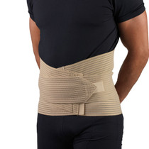 OTC 1200 Men's Lumbo Sacral Orthoses (side lace corsets) Elastic LSO w/ zipper front 30-48 () (OTC 1200)