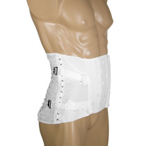 "OTC 2856 Ladies' Lumbo Sacral Orthoses (side lace corsets) Brocade, 2 pulls, 2 steels, 8½"" front, 13"" back 30-48 (2856)"