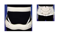 """Men's - Ladies' Chair back HARRIS Orthoses 9½"""" Depth Men's butterfly hvy-wt pelvic & thoracic bands, naugahyde covered S-M-L-XL (0953-P) (Harris Orthoses 0953-P)"""
