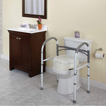 Aluminum Toilet Hand Rail - four-point floor contact (7010)