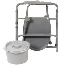 Tool-Free 3-in-1 coated grey commode (5523)