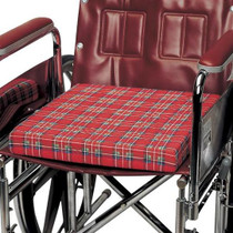 """Cloth-covered foam wheelchair cushion, 16"""" x 18"""" (6227) (6227)"""