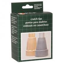 "PCP 6100-G CRUTCH TIPS 3/4"" - 7/8"" Medium Tip - grey (pair) 12/bag"