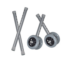 "Drive 10118CSV Heavy Duty Bariatric Walker Wheels, with Extension Legs, 5"", 1 Pair"
