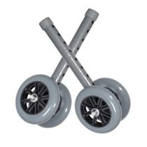 "Drive 10118SV Heavy Duty Bariatric Walker Wheels, 5"", 1 Pair"