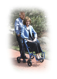 Drive 795BU Duet Dual Function Transport Wheelchair Walker Rollator, Burgundy