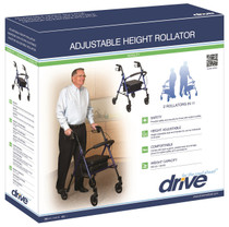 """Drive Medical RTL10261BL Adjustable Height Rollator with 6"""" Wheels, Blue (Drive RTL10261BL)"""