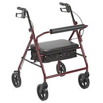 "Bariatric Rollator with 8"" Wheels, Red (10216RD-1)"
