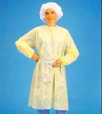 8010 Isolation Gown XL Yellow w/elastic cuff 5/CS