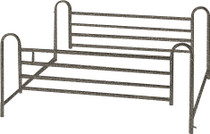 Drive 15001ABV Full Length Hospital Bed Side Rails, 1 Pair (15001ABV)