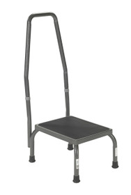 Foot stool with Non Skid Rubber Platform and Handrail (13031-1SV)