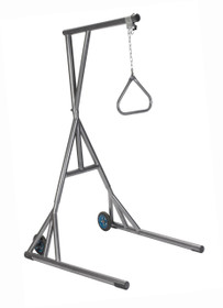 Drive Devilbiss 13039SV Heavy Duty Trapeze with Base and Wheels, Silver Vein