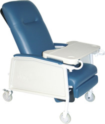 Drive Medical D574EW-BR 3 Position Heavy Duty Bariatric Geri Chair Recliner, Blue Ridge