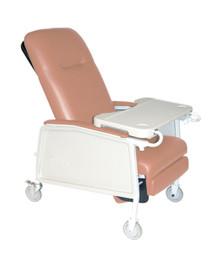 3 Position Heavy Duty Bariatric Geri Chair Recliner, Rosewood (D574EW-R)