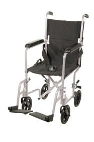 "Drive ATC17-SL Aluminum Lightweight Transport Wheelchair, 17"" Seat, Silver"