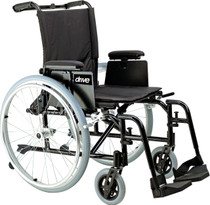 "Drive AK516ADA-AELR Cougar Ultra Lightweight Rehab Wheelchair, Elevating Leg Rests, 16"" Seat"
