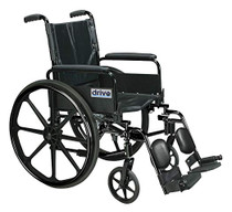 "Drive C418ADFASV-ELR Cirrus IV Lightweight Dual Axle Wheelchair with Adjustable Arms, Detachable Full Arms, Elevating Leg Rests, 18"" Seat (C418ADFASV-ELR)"