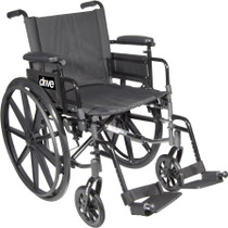 "Drive C418ADFASV-SF Cirrus IV Lightweight Dual Axle Wheelchair with Adjustable Arms, Detachable Full Arms, Swing Away Footrests, 18"" Seat (C418ADFASV-SF)"
