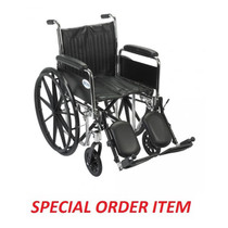 "Chrome Sport Wheelchair, Detachable Full Arms, Elevating Leg Rests, 16"" Seat"