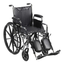 "Chrome Sport Wheelchair, Detachable Full Arms, Swing away Footrests, 16"" Seat"