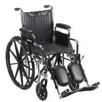 "Drive Medical CS16FA-ELR Chrome Sport Wheelchair, Fixed Full Arms, Elevating Leg Rests, 16"" Seat"